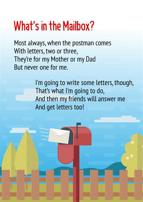 whats   mailbox poem  class
