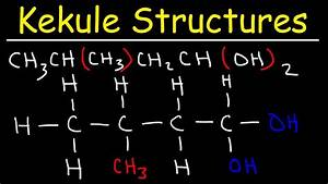 Kekule Structures And Condensed Structures