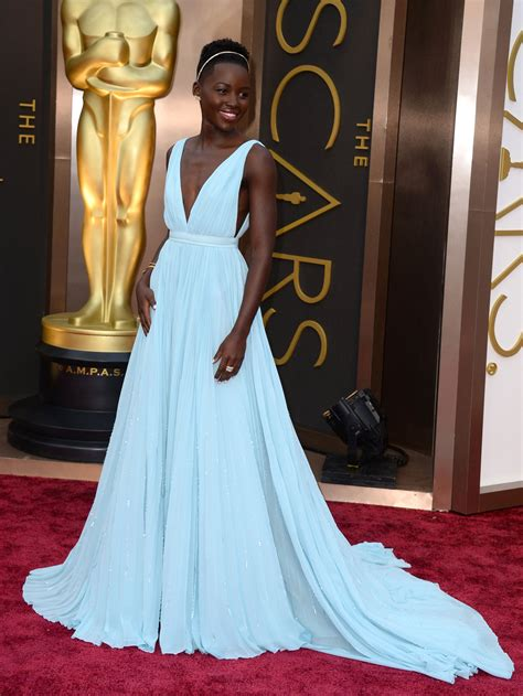 oscars   supporting actress lupita nyongo crowned red carpet queen  winning