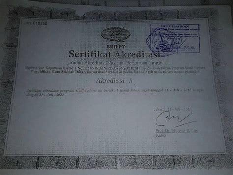 Minta Surat Keterangan Akreditasi Perguruan Tinggi by Sk Akreditasi Perguruan Tinggi Dari Ban Pt Info Pns Dan