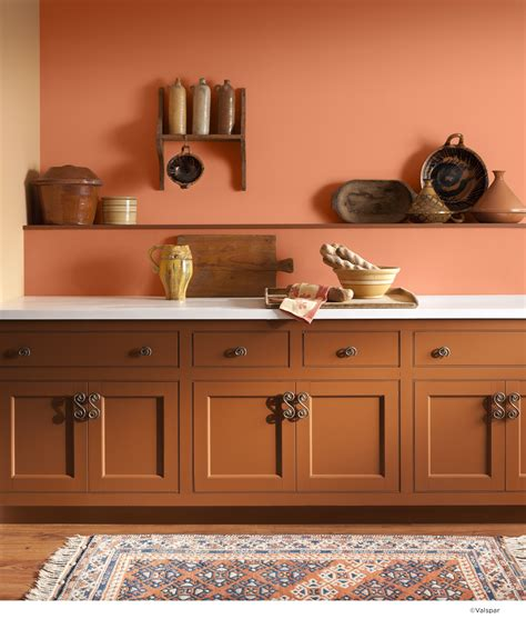 apricot paint color for kitchen an orange wall can bring rustic warmth to any 7499
