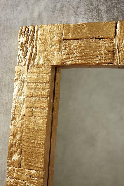 Holz Gold Lackieren gilded wood mirror diy easy wood mirror wood