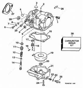 Evinrude 1998 30 - E30teecs  Carburetor 25 Hp