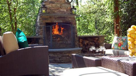 cost of an outdoor fireplace outdoor fireplace landscaping costs what to expect