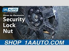 How To Remove a Security Lug Nut Without The Correct Key