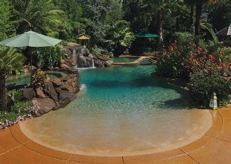 pool designs with beach entry inspiration decorating