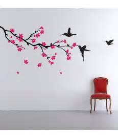 stickerskart wall stickers wall decals hummingbirds and blossoms 5712 buy stickerskart wall