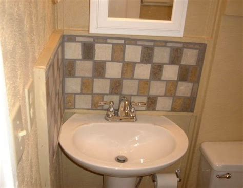 Pedestal Sink Backsplash Ideas