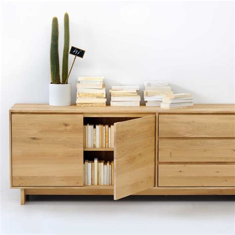 A Sideboard Is A by Ethnicraft Oak Wave Sideboard