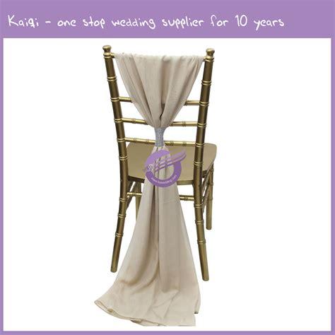 19869 blush pink bridal chiffon ruffled chair white chair sash with artificial flower