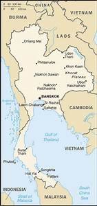 Asian World Map Cia World Fact Book 2004 Thailand Wikisource The Free