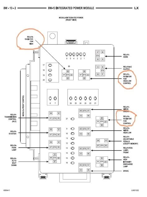 Fuse Panel Diagram 2006 Chrysler 300 by 2005 Chrysler 300c Fuse Box Auto Electrical Wiring Diagram