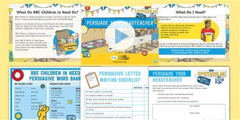 * New * Ks2 Bbc Children In Need Persuasive Letter Writing