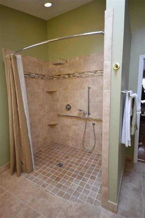 handicap walk in shower roll in showers for seniors and handicapped in barrier