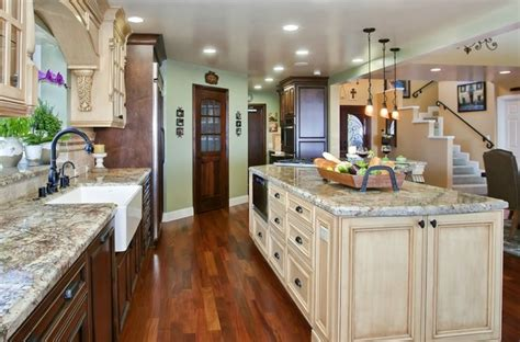 galley style kitchen with island tuscany style kitchen great room mediterranean kitchen san diego by gourmet galleys