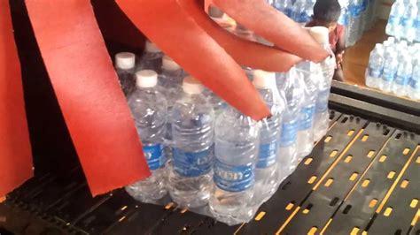 water bottles shrink packing machine youtube
