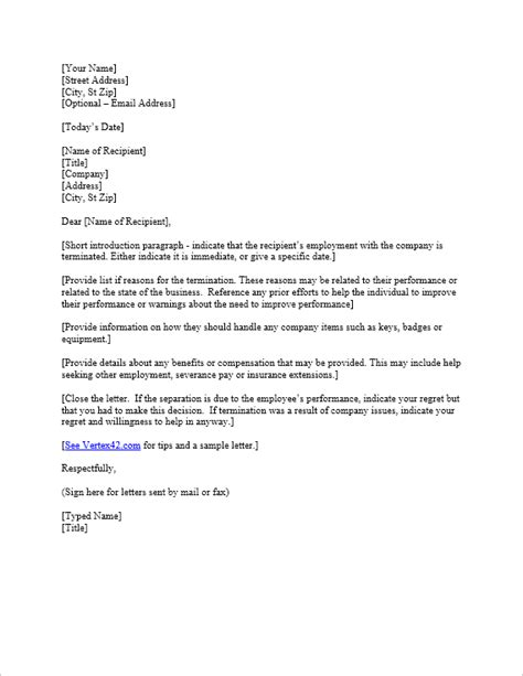 employee termination letter sample scrumps