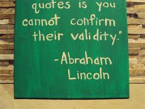 Funny quote canvas art abraham lincoln painted