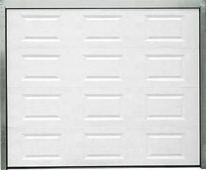 porte de garage sectionnelle motorisee blanche h200xl240 With porte de garage bricoman