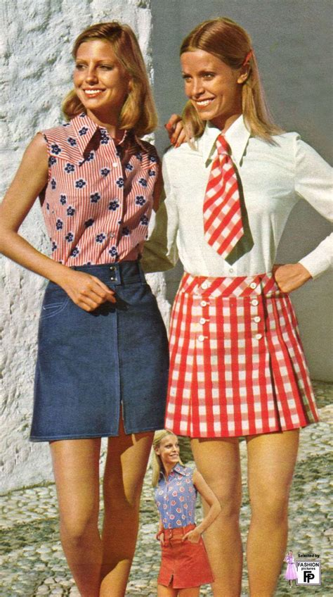 siebziger jahre kleidung 1970s minis i want a denim skirt like this o