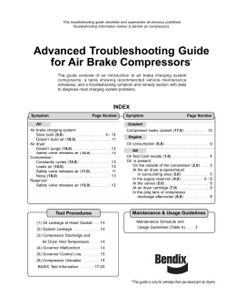 System Troubleshooting: Brake System Troubleshooting Guide