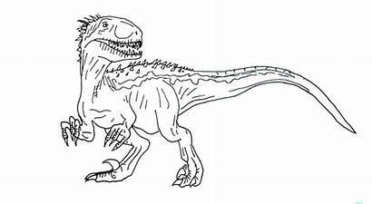 Indoraptor Jurassic Coloring Rex Printable Indominus Colorare