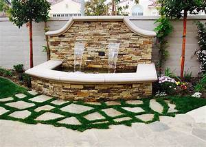 Backyard, Fountain, With, Images