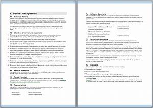 Microsoft Excel Free Downloads Information Technology Support Services Contract Template