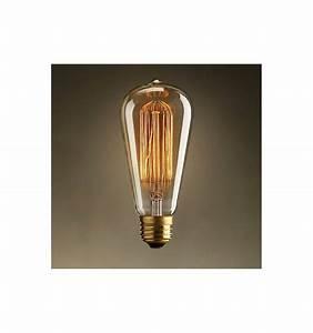 Lampe Ampoule Filament : ampoule filament incandescent e27 40w blanc chaud ~ Teatrodelosmanantiales.com Idées de Décoration
