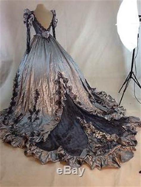 gothic halloween steampunk victorian ball gown wedding