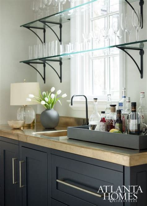 sink shelves kitchen awesome bar with glass shelving how they quot float quot in 2276