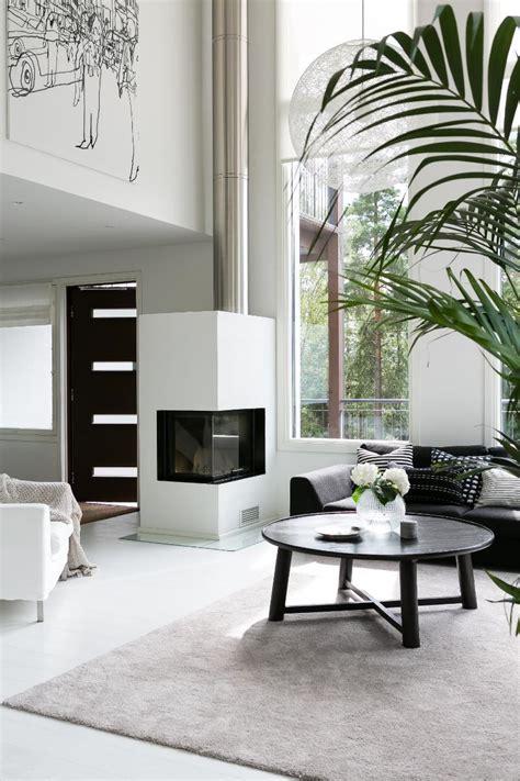 Scandinavian modern black and white interior design