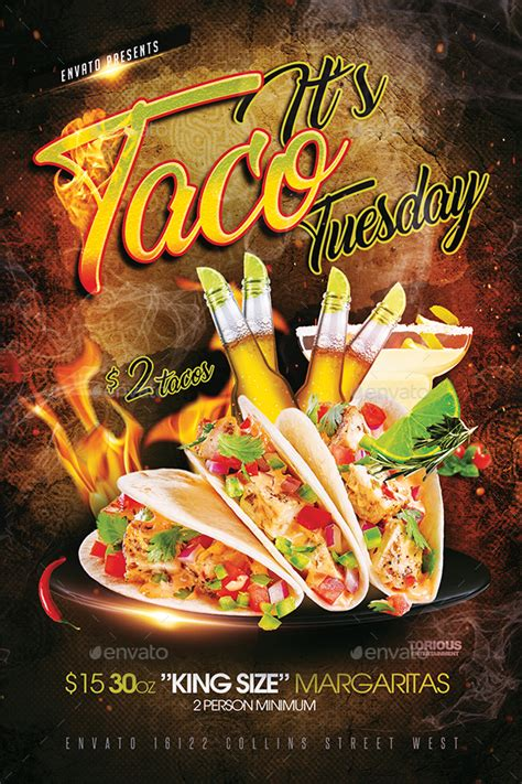 taco tuesday flyer template  takedesign graphicriver