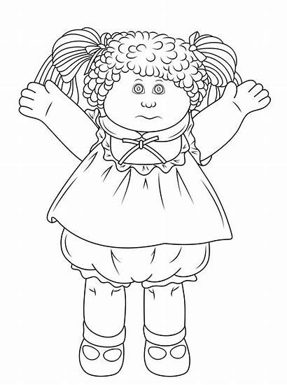 Coloring Cabbage Patch Pages Doll Printable Dolls