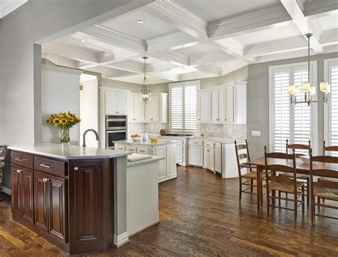 white elegant kitchens coffered ceiling kitchen design