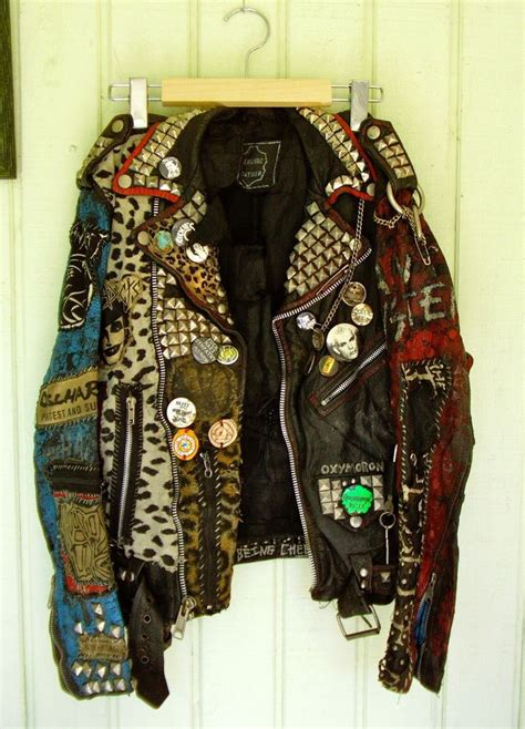 punk rock leather jacket      teen punkrock pinterest punk rock  leather jacket