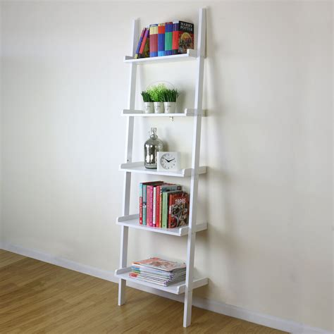 tier white ladder wall shelf home storagedisplay unit
