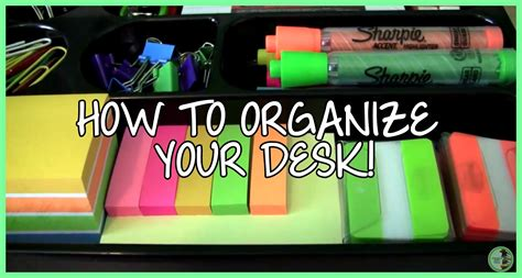 cool things to put on your desk how to organize your desk video by high experience
