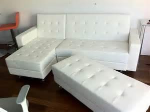 sleeper sofa with ottoman white leather modern sectional sofa sleeper with ottoman