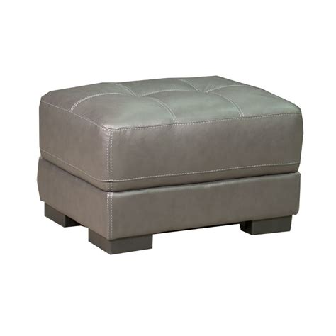 milan 30 quot grey leather ottoman