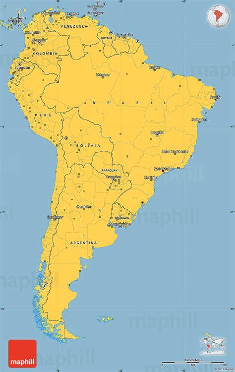 savanna style simple map  south america