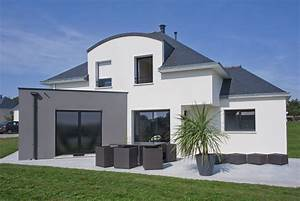 plan maison contemporaine 120m2 With good modele de maison en l 7 de maison neuve moderne construction