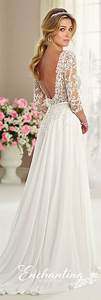 chiffon tulle lace wedding gown enchanting by mon With fall wedding dresses with sleeves