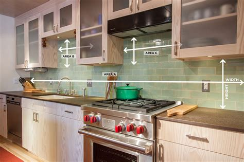 how to do kitchen backsplash how to measure your kitchen backsplash