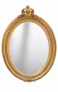 Grand Miroir Baroque : grand miroir baroque ovale de style louis xvi ~ Teatrodelosmanantiales.com Idées de Décoration