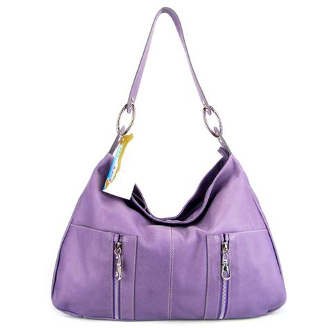 moda italia italian designer lavender leather hobo