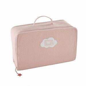 Valise Bébé Fille : valise pois en coton rose 18 x 47 cm coquette maisons du monde ~ Teatrodelosmanantiales.com Idées de Décoration