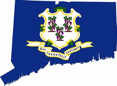 Connecticut Flag Map Svg State Flags Ct