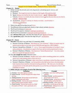 Chapter 11  U0026 12 Study Guide  Motion  U0026 Forces
