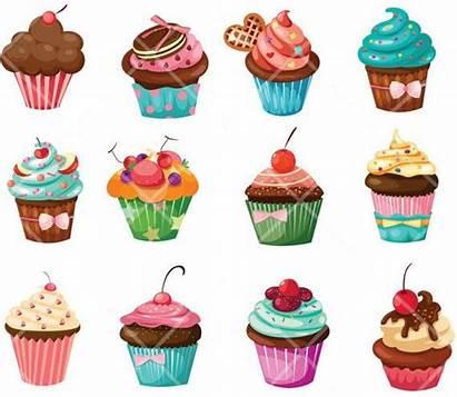 Cupcakes Cupcake Cookies Cakes Dibujos Clipart Animados